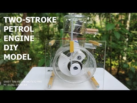 How to Make Two Stroke Petrol Engine Model