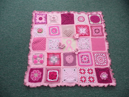 Thanks to Ladies all over the World for helping to make this blanket.
