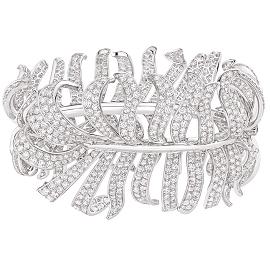 Chanel Fine Jewelry 1932 White Diamond Plume Bracelet