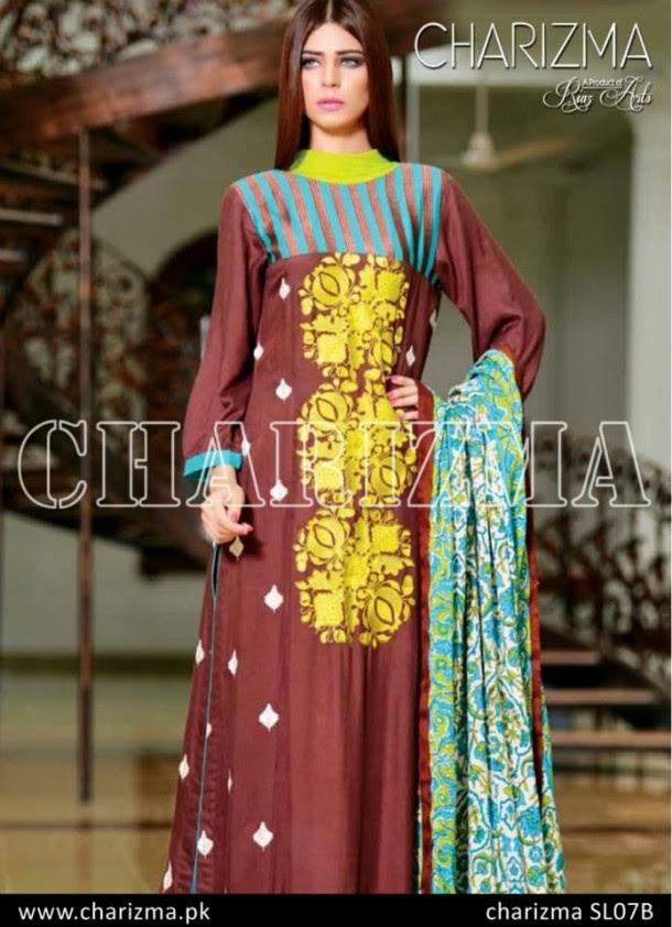Beautiful-Girls-Wear-Stich-Embroidered-Clothes-New-Fashion-by-Charizma-Winter-Dress-2013-14-5