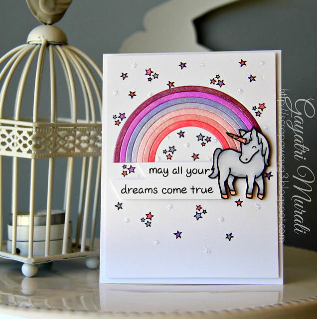 Rainbow and Unicorn card