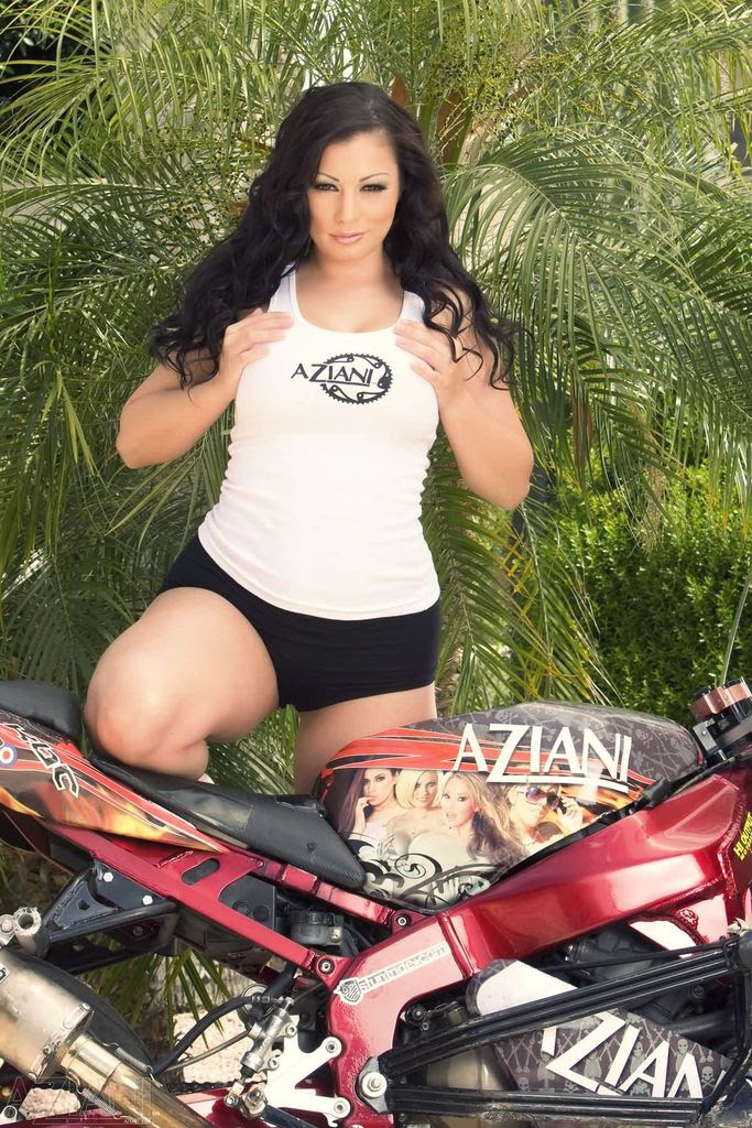 Aria Giovanni - Hot Pictures on Bike - Sexy Actress Pictures | Hot Actress Pictures