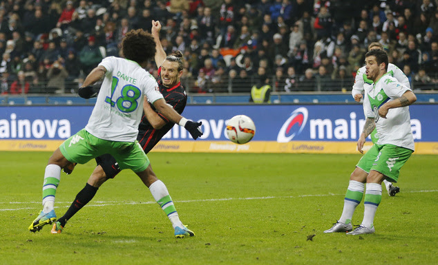 Dante vs Meier Wolfsburg Frankfurt Bundesliga