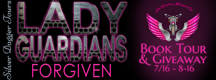 Book Tour Banner for the contemporary mc romance, Forgiven from the Lady Guardians series by Reans Malori with a Book Tour Giveaway