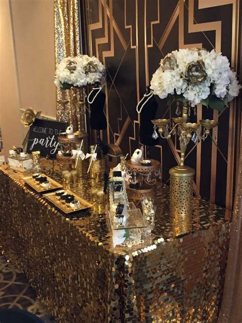 Great Gatsby Birthday Party Ideas in 2019   Gatsby
