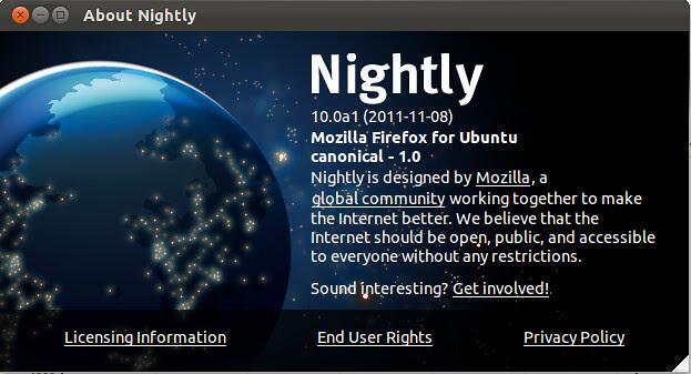 firefox 10 Ubuntu
