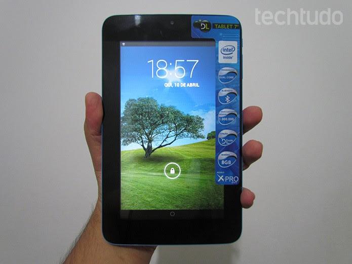 DL X-Pro é o tablet de 7 polegadas com chip Intel dual-core vendido a R$ 449 (Foto: Paulo Alves/TechTudo)