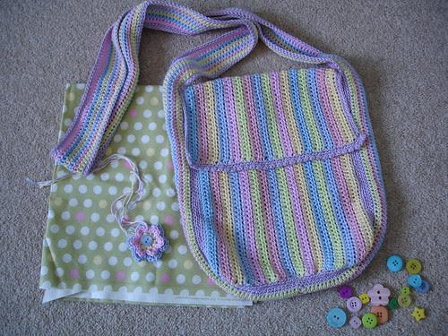 summer crochet cotton bag WIP 002