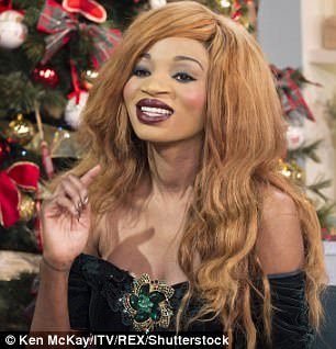 During an appearance on This Morning 2014 where she revealed she spends up to £2,000 a year on products to change the colour of her complexion