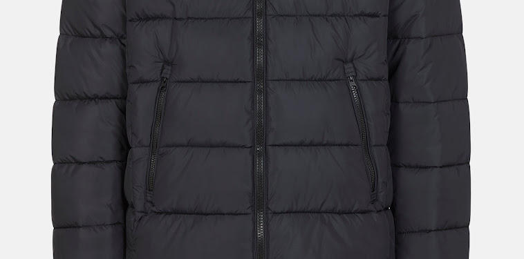 Mens Black Puffer Jacket With Hood