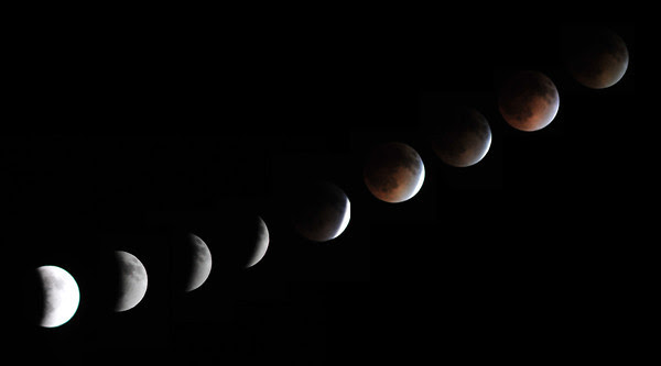 15 April 2014 Total Lunar Eclipse Montage