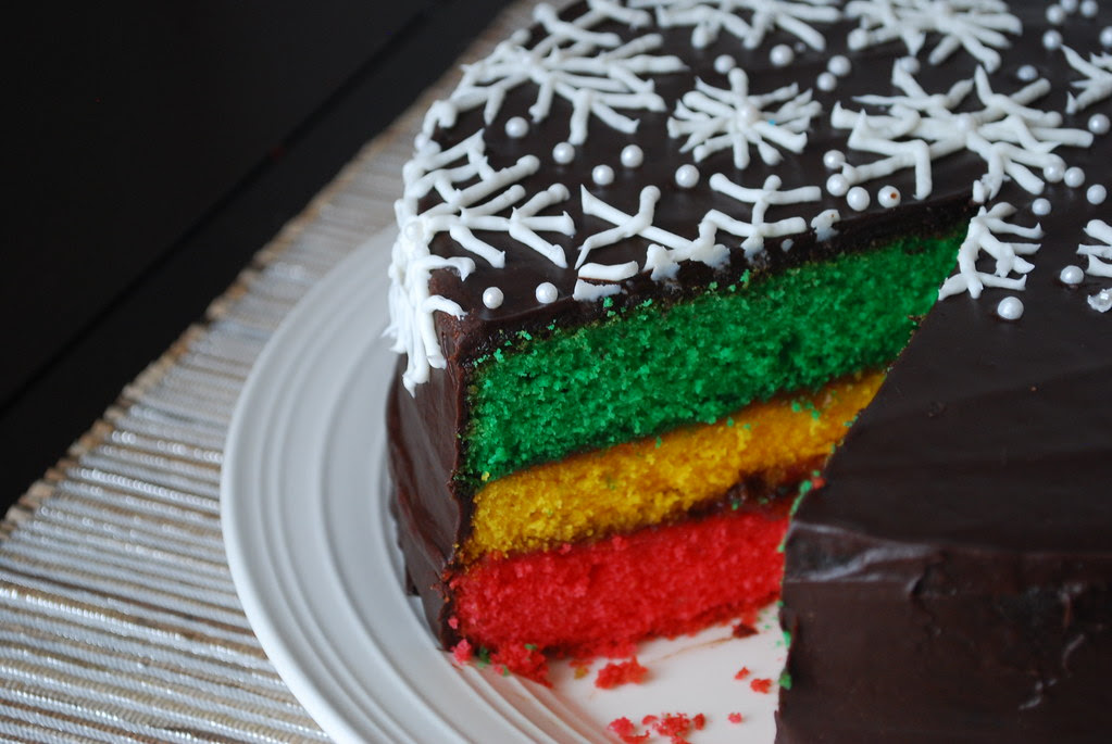 Italian Rainbow Cookie Cake Recipe