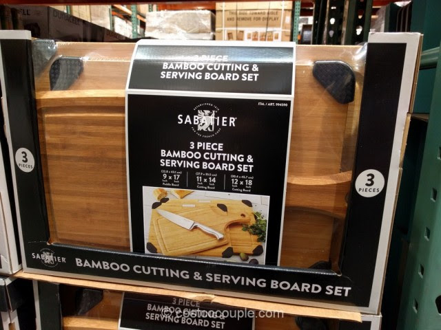 Sabatier 3 Piece Bamboo Cutting And Serving Board Set