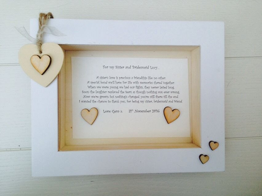 Maid Of Honor Frame Bridesmaid Gifts Maid Of Honor T