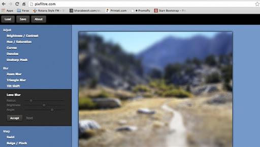 موقع Pixfiltre لاضافة التأثيرات علي الصور اون لاين