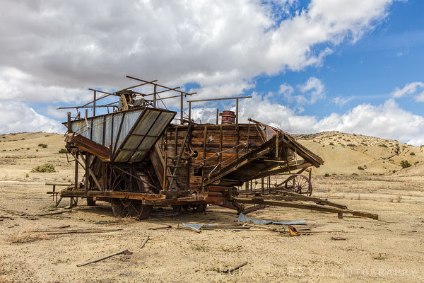 Grain thresher, Carrizo Plain National Monument