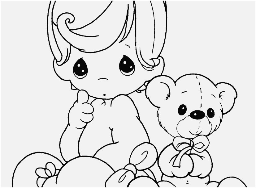 Baby Doll Coloring Page At Getdrawingscom Free For Personal Use