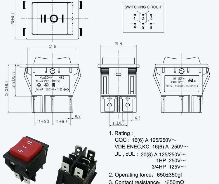 how to wire a 6 prong toggle switch