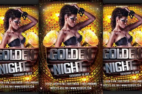 Golden Night Pary Flyer ~ Flyer Templates ~ Creative Market