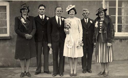 Perky 1940s wedding