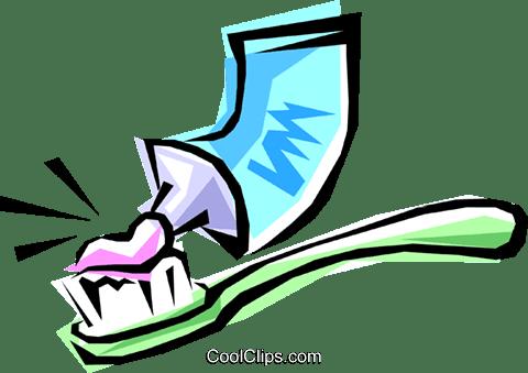 歯ブラシ歯磨き粉 ロイヤリティ無料ベクタークリップアートイラスト