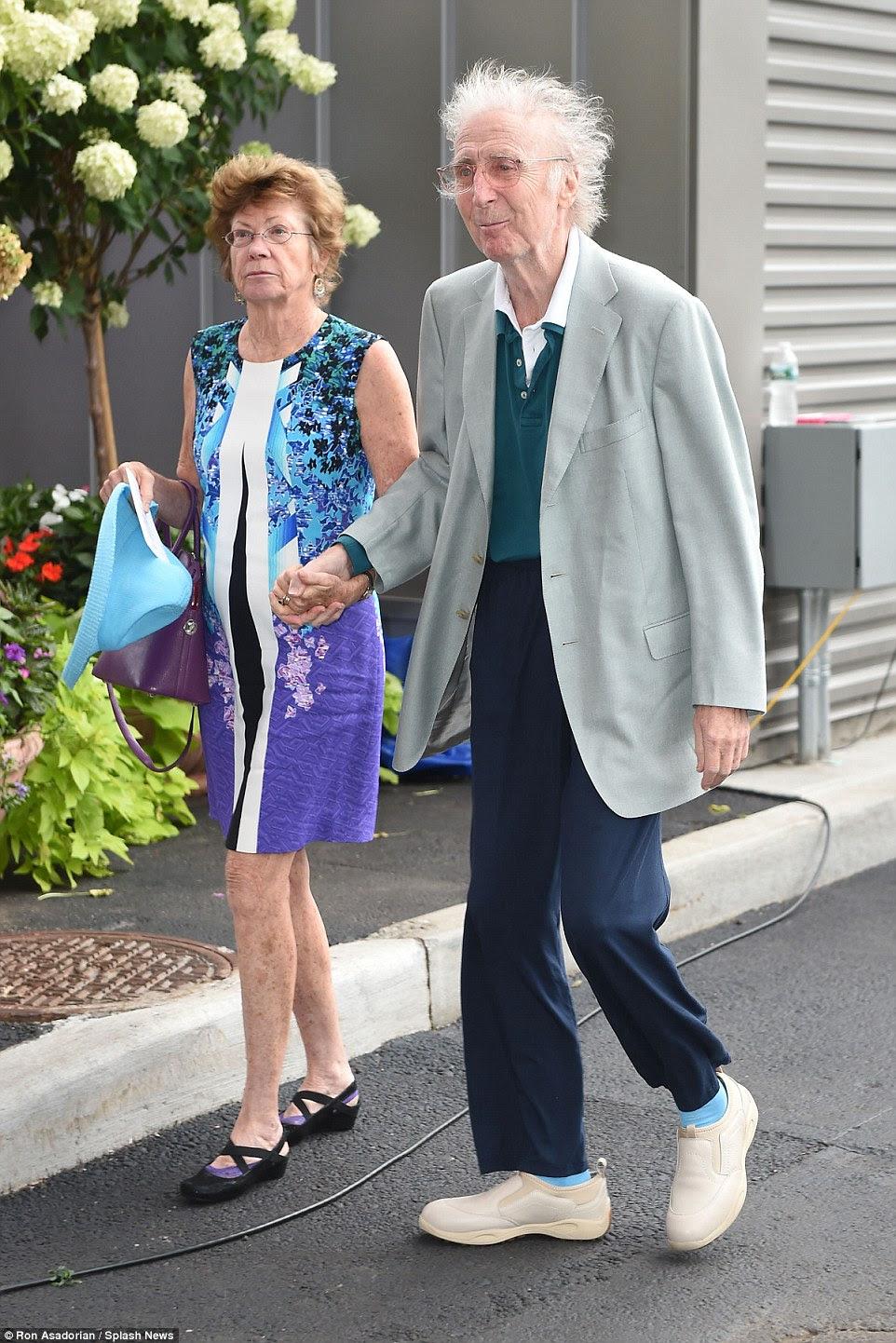 """Wilder foi diagnosticado com a doença de Alzheimer há três anos, mas manteve isso em segredo porque """"ele não poderia estar menos um sorriso do mundo '(foto para os EUA Aberto em Setembro de 2015)"""