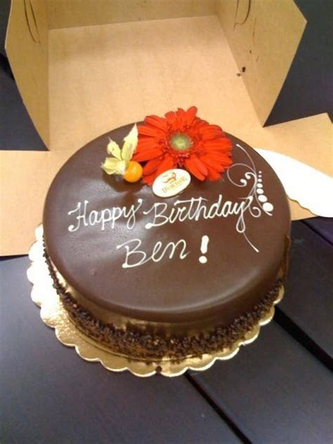 chocolate birthday cake with fresh flowers (1 comment)