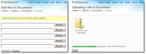 Use Windows live Skydrive as Online Backup Storage - 25-GB
