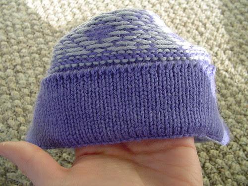 faux brim hat hem, from the inside