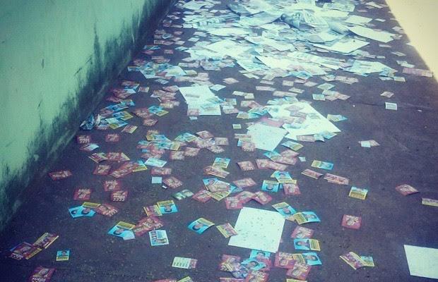 Lixo eleições Goiânia, Goiás Geicy (Foto: Arquivo pessoal/Geicileny Moreira Martins )
