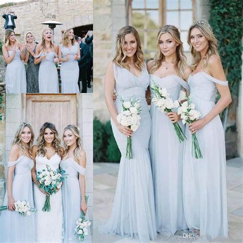 Cheap beach country Bridesmaid Dresses 2017 Light Sky Blue