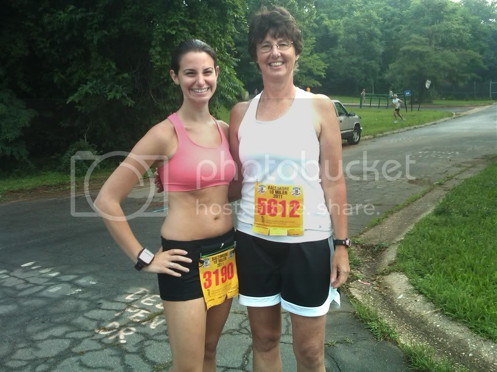 Me and mom before the start