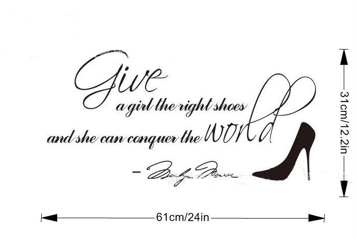 Wholesale Marilyn Monroe Give A Girl Shoes Conquer the World Quote ...