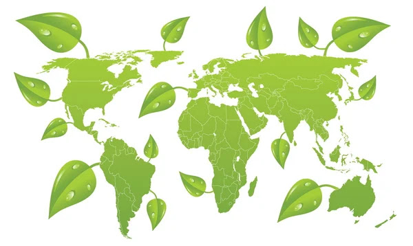 world map vector free download. Vector green world map.