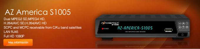 ATUALIZAÇÃO AZAMERICA S1005 HD – V1.09.11027 – 19/03/2014