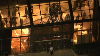 Aerial Footage: Search for Mall Gunman