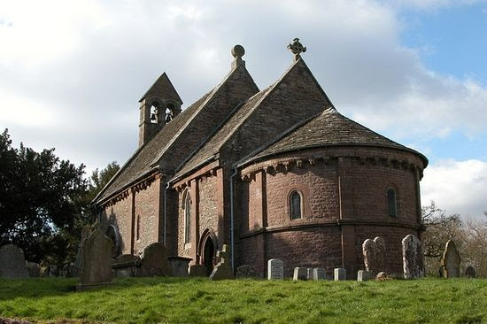 St. Mary's and St. David's Church in Kilpeck, Herefordshire