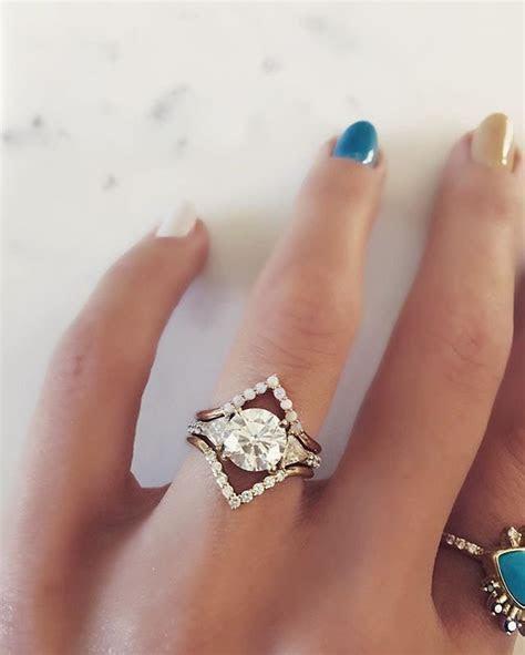 White Diamond Triangle Nesting Ring in 2019   wedding