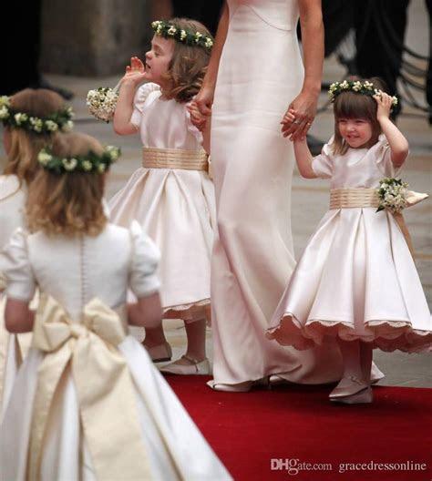 Elegant Kate Middleton Wedding Flower Girl Dresses Crew