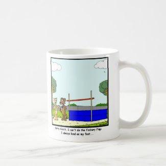 Fosbury Flop: Cat cartoon Basic White Mug