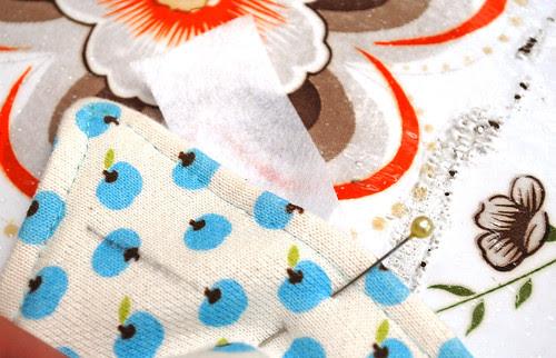 Knoopsgaten in tricot  STAP 1
