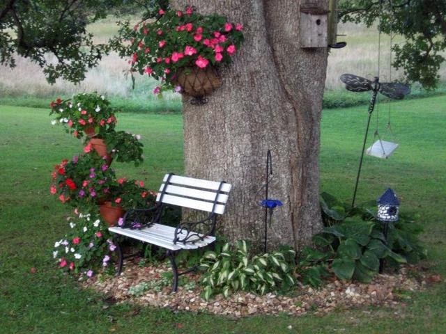 25 Amazing Ideas For Flower Beds Around Trees国际蛋蛋赞