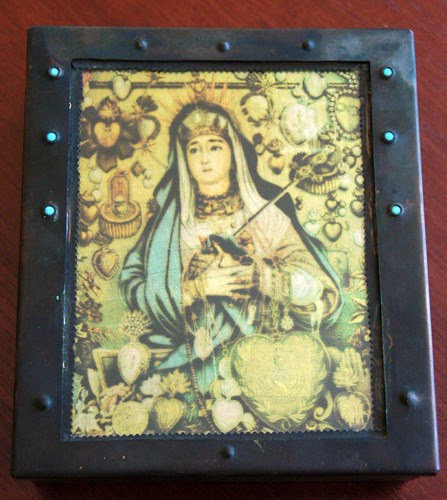 "Reliquary box, ""Our Lady of Abundance,"" Grace Gunning, 2000"