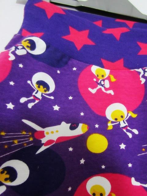 purple astro skirt waistband