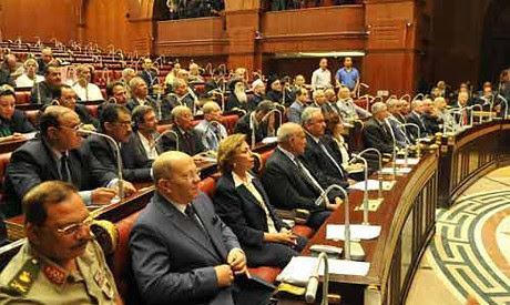 The 50-member Egyptian constitutional committee set up by the military regime to draft a new constitution. The Muslim Brotherhood was recently banned. by Pan-African News Wire File Photos