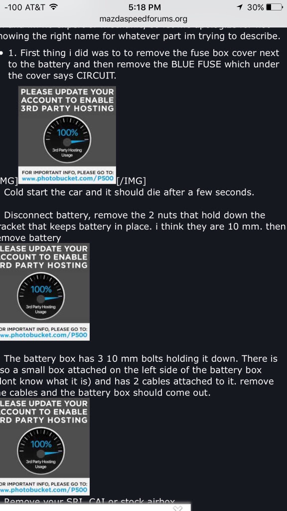 Fuse By Battery Box Mazdaspeed 3