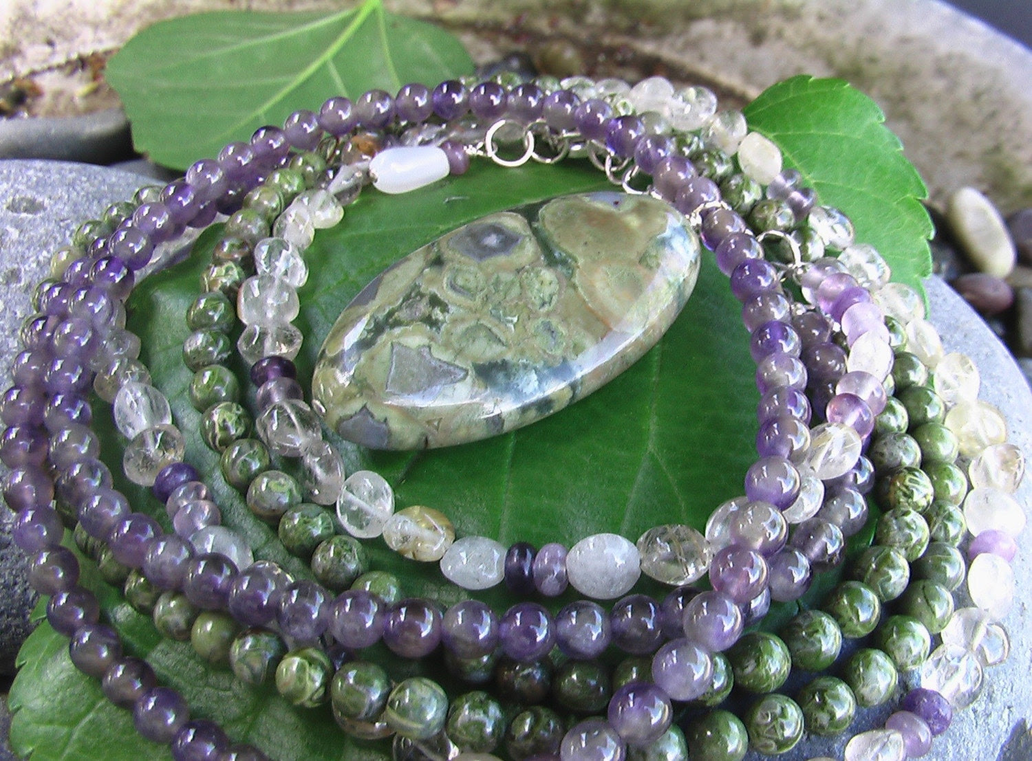 Grapes on the Vine Necklace