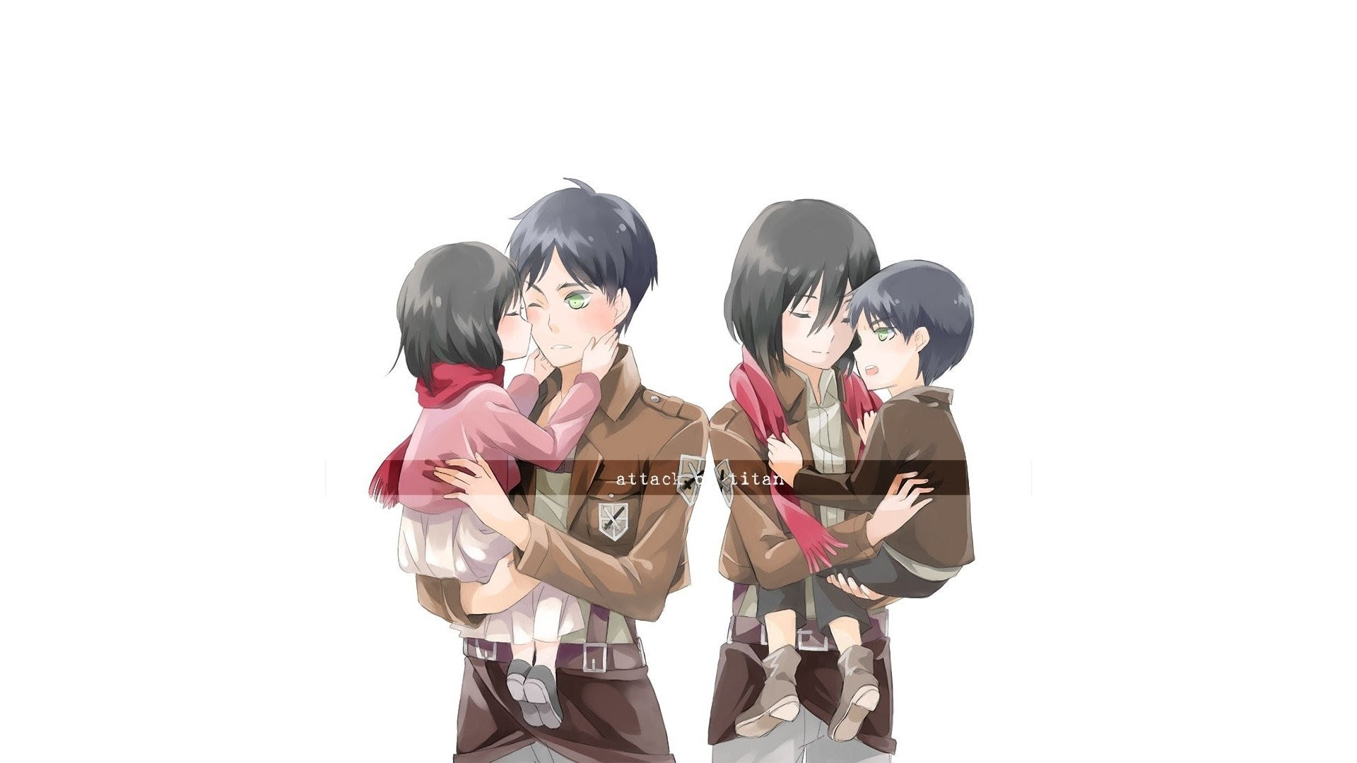 Gambar Anime Attack On Titan Eren Dan Mikasa Anime Wallpapers