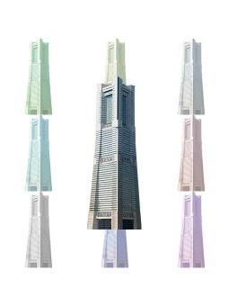 スマホ用ページ横浜ランドマーク タワーのポストカード用イラスト