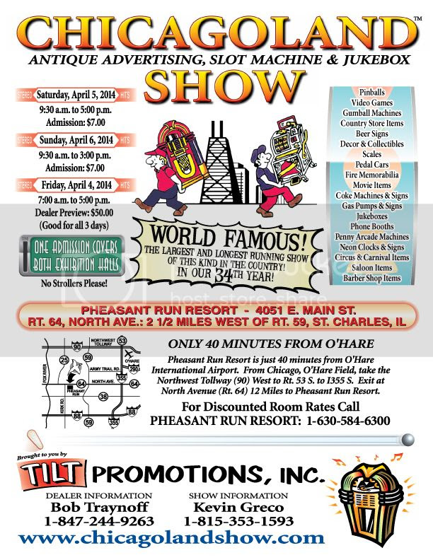 Details on Chicagoland Antique Advertising, Slot Machine & Jukebox Show